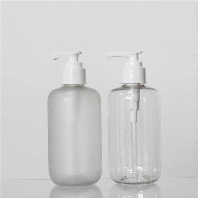 Custom Color Polish Or Frosted PET 250ml Plastic Pump Bottles For Shampoo