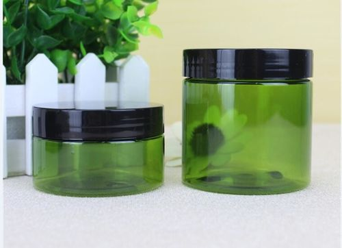china latest news about 100ml&200ml green plastic cosmetic cream jar with cap ship to Poland client