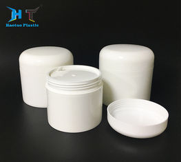 White Plastic Cream Containers , Double Wall Plastic Jars With Disc Liner