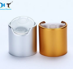 China Coat Shampoo Lotion Bottle Caps 24mm Shiny Silver And Gold Aluminum Color factory
