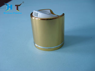 Small Plastic Disc Cap One Handed Dipensing Aluminum Gold Metalized