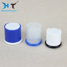 China 28 / 415 Shiny Bule Shampoo Bottle Cap , Disk Top Cap Color Spray Painting factory