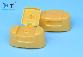 Curved Shape Flip Top Dispensing Caps 24mm Snap Size ISO9001 Approved