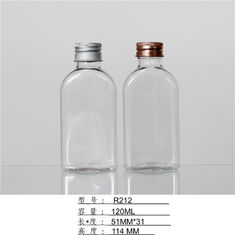 Square Shape 120ml Plastic Cream Bottles Silver Screw Cap For cosmetic water