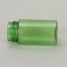 China Empty Wide Mouth 100ml Green Frosted PET Foam bottle Plastic Cosmetic Packaging factory