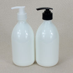 China Hand Washing Plastic Cosmetic Bottles , 500ml Plastic Shampoo Bottles With Pump factory