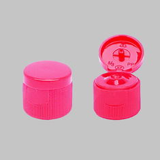 20 / 410 20 / 415 Flip Top Plastic Caps Red Ribbed 2.5 G / 3 G SGS Approved