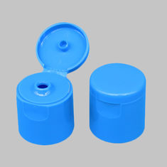 24 / 415 Flip Top Plastic Caps Blue Color Smooth Surface Apply To Cream Bottle