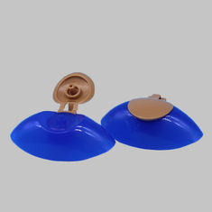 14mm Snap Neck Double Color Plastic Flip Top Lid Caps For Shampoo Bottle