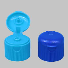 24mm 24/410 Bule And Green Round Perfume Screw Flip Top Cap With Ribbed Wall