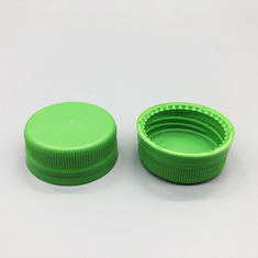 Beverage Ribbed Plastic Water Bottle Caps Non Refillable With Liner