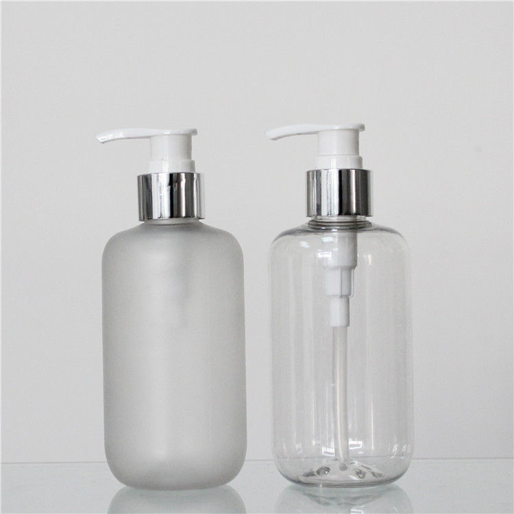 Custom Color Polish Or Frosted PET 250ml Plastic Pump Bottles For Shampoo supplier