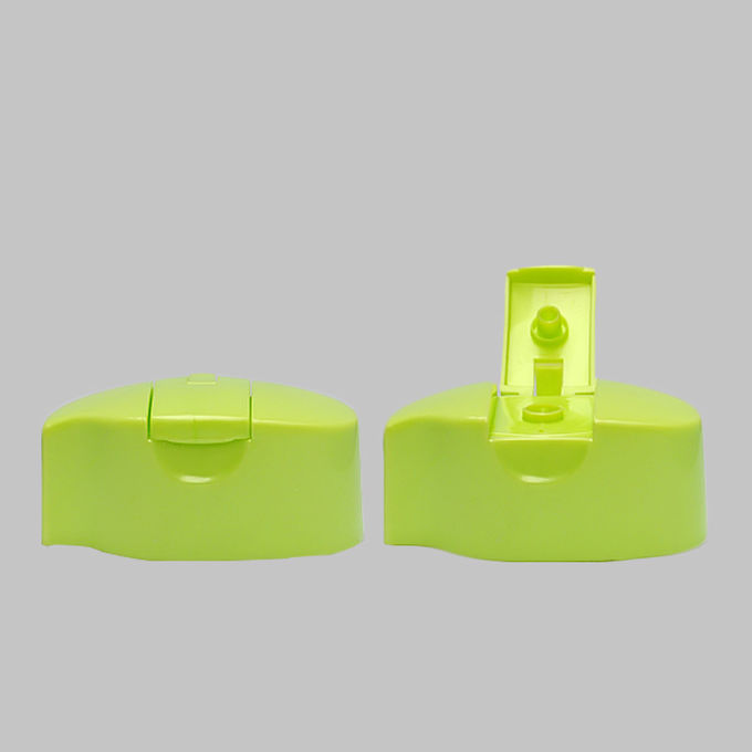 24mm Snap Neck Size Hook Type Green Plastic PP Flip Top Caps For 400ml Shampoo Bottles