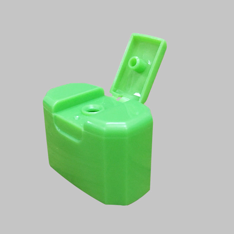 Rectangle Green Flip Top Dispensing Caps 16 Mm Neck Size Long Life Span supplier